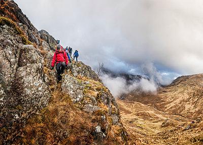 UK, Scotland, Glencoe, trekking at Sron na Lairig - p300m1356167 by Alun Richardson