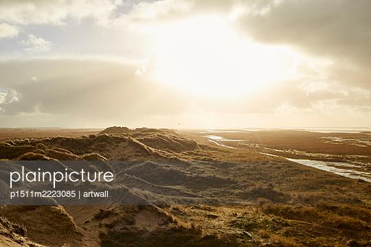 Dünenlandschaft in der Abendsonne - p1511m2223085 von artwall