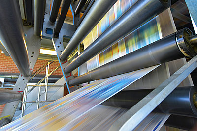 Printing machine in a printing shop - p300m2104439 by Sten Schunke