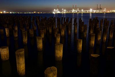 Princes Pier at sunset - p1399m2065850 by Daniel Hischer