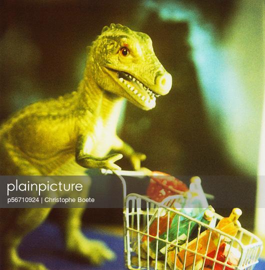 Dinosaur shopping - p56710924 by Christophe Boete