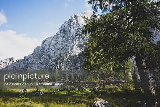 Berglandschaft in Slowenien - p1295m2031596 von Katharina Bauer