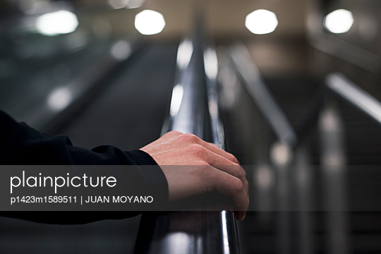 man on the subway in Berlin,Germany - p1423m1589511 by JUAN MOYANO