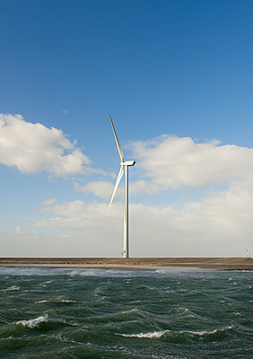 Wind turbine on shore - p1132m1424052 by Mischa Keijser
