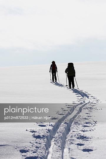 Women skiing, Ammarnas, Lapland, Sweden