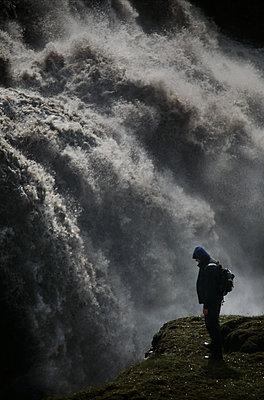 Waterfall, Iceland - p1028m2043540 by Jean Marmeisse