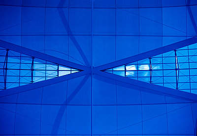 Architecture, blue, abstract - p300m2060215 by Pascal Miller