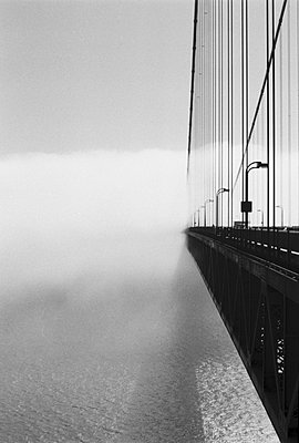 Golden Gate Bridge, View of Side With Approaching Cloud, San Francisco, California, USA - p694m756925 by Kathryn Sheldon