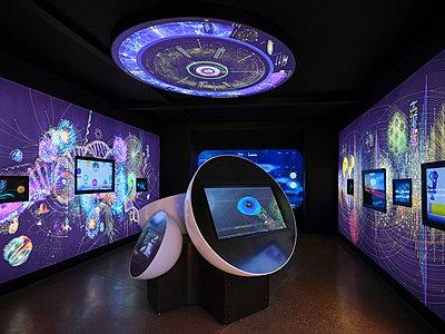 Russland, Weltraumausstellung in Moskau - p390m2287829 von Frank Herfort