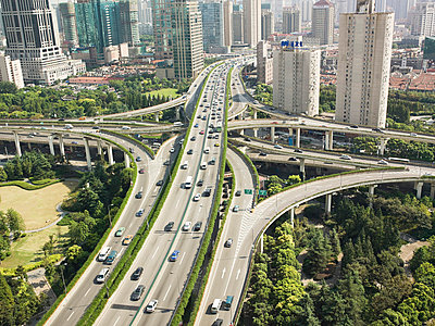 Elevated highway in shanghai - p9249157f by Image Source