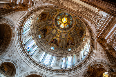 Berlin Cathedral Church cupola - p1154m1193252 by Tom Hogan