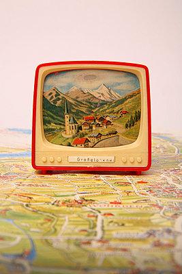 Miniature tv - p1650880 by Andrea Schoenrock