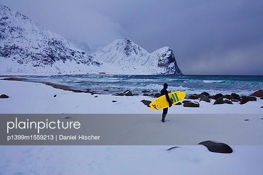 Surfen im Winter - p1399m1559213 von Daniel Hischer