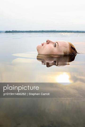 Fair Redhead in Calm River  - p1019m1466282 by Stephen Carroll