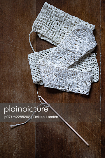 Chrocheted lace - p971m2288202 by Reilika Landen