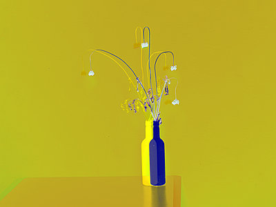 Collage, Flowers in flower vases - p1413m2278751 by Pupa Neumann