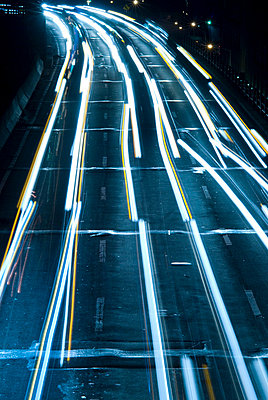 Highway at Night, New York City - p5690012 by Jeff Spielman