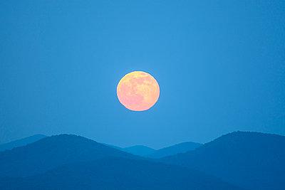 Full moon over Blue Ridge Mountains - p1427m2000061 by Dermot Conlan