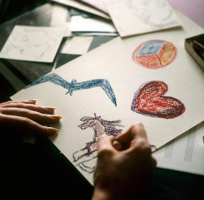 Woman drawing - p3223063 by Sari Poijärvi