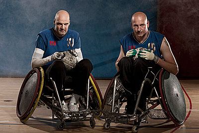 Para rugby players in wheelchairs - p42914883f by Thomas Busk