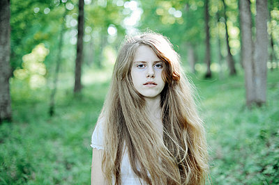 Portrait of a girl with blonde hair - p1412m2029086 by Svetlana Shemeleva