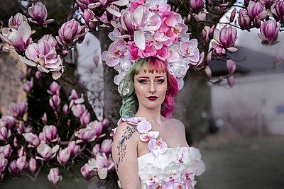 Magnolien und Orchideen - p1688m2285050 von Eva-Maria Gebhardt