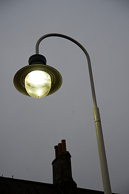 Grange Over Sands, railway station, street lamp - p1560m2184984 by Alison Morton
