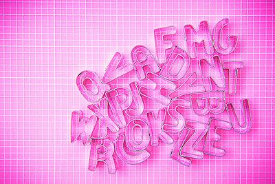 Alphabet cookie cutters - p1149m2296685 by Yvonne Röder