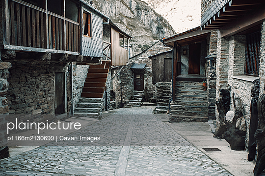 Streets of Santiago de Pe–alba, an old stone village in the mountains - p1166m2130699 by Cavan Images