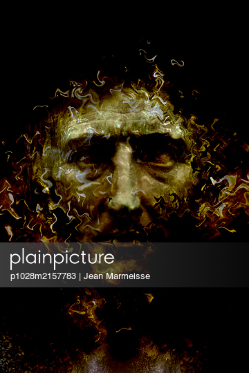 Mysterious face - p1028m2157783 by Jean Marmeisse