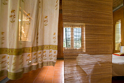 Curtains in Airy Bedroom - p1562m2263574 by chinch gryniewicz