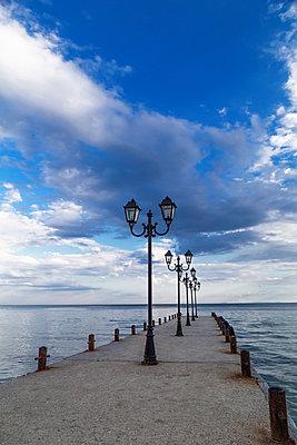 Small pier into the sea - p1596m2204667 by Nikola Spasov