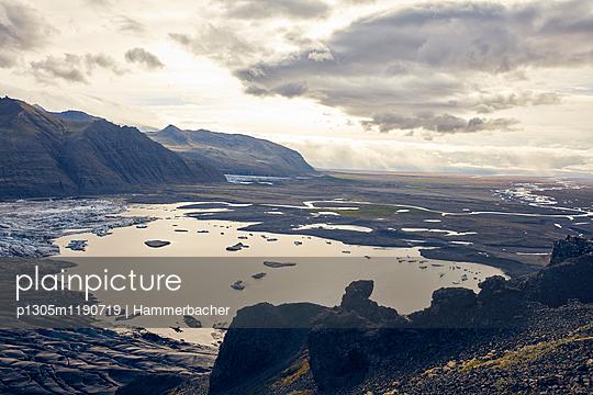 Skaftafell Gletscher in der Dämmerung - p1305m1190719 von Hammerbacher
