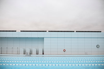 Swimming lanes - p1367m2031280 by Teresa Walton