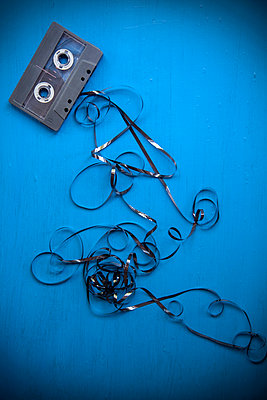 Cassette Tape Entangled  - p1248m2109280 by miguel sobreira