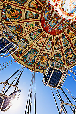 Swing Ride at the Fair - p1100m2090945 by Mint Images