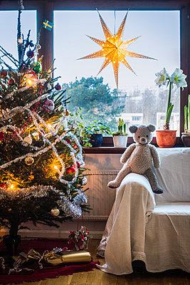 Swedish Christmas tree - p1418m1571575 by Jan Håkan Dahlström