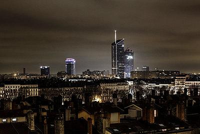 Lyon bei Nacht - p910m1467718 von Philippe Lesprit