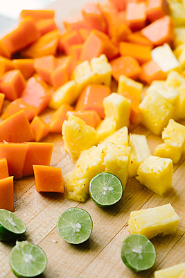 Tropical Fruit Food Prep - p1262m1444502 by Maryanne Gobble