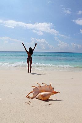Woman on the beach - p0452657 by Jasmin Sander