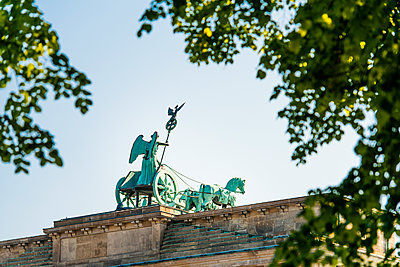 Brandenburg Gate with Quadriga - p1493m1589484 by Alexander Mertsch