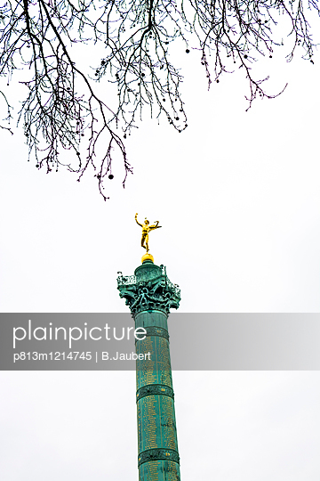 Column of July, Bastille's Place - p813m1214745 by B.Jaubert