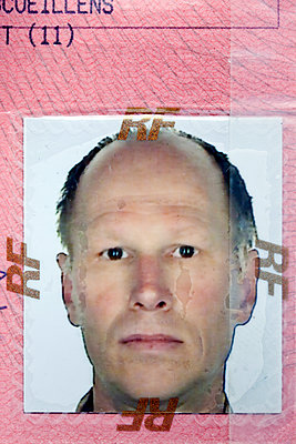 Vintage driving license with passport photo - p265m1424821 by Oote Boe