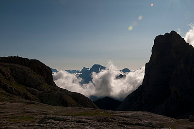 Cloud formation in the Pale di San Martino - p470m2148491 by Ingrid Michel