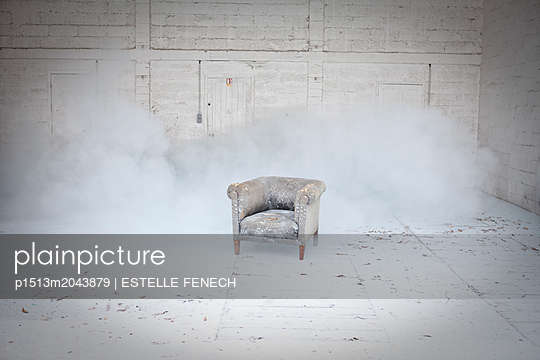 Armchair in the dust - p1513m2043879 by ESTELLE FENECH