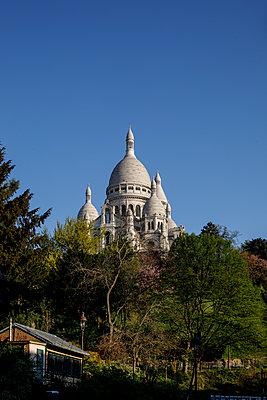Montmartre, Basilika Sacré-Cœur, Paris, France, shutdown due to Covid-19 - p1329m2177974 by T. Béhuret