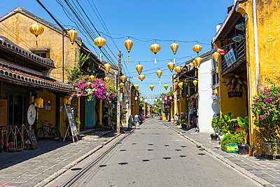 Street scene in Hoi An - p1445m2082669 by Eugenia Kyriakopoulou