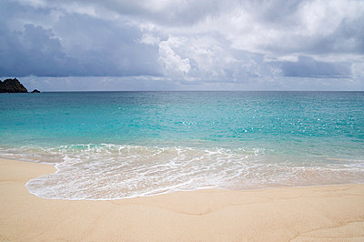 Porthcurno beach in cornwall - p9244161f by Image Source