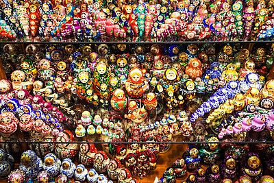 Display of Babushka dolls in Czech Republic - p301m799570f by Sven Hagolani
