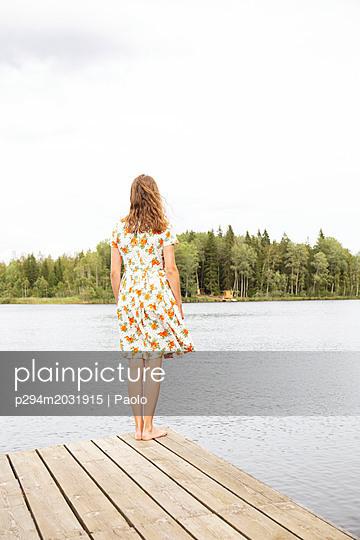 Blick über den See - p294m2031915 von Paolo